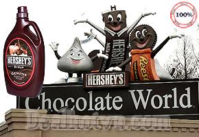 Deal Hot VN - Ngot ngao hon voi Siro Chocolate Hershey's khi dung chung cac mon trang mieng: kem, banh bong lan, tra sua, sinh...