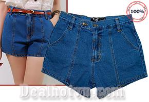 Deal Hot VN - Quan Short Jeans bui Thai Lan Cao cap Nu - Kieu dang lung ngang hop mot, manh me - Cho Ban Gai Phong Cach Thoi...