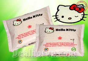 Deal Hot VN - Viec tay trang se de dang, nhanh chong va tien loi hon voi Combo 2 bich khan giay uoc tay trang Hello Kitty cao...