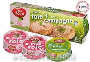 Deal Hot VN - Cam nhan vi beo va mui thom cua thit heo nhu tan dan tren dau luoi voi Combo 3 hop Pate De Foie Campagne Jean...
