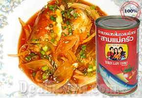 Deal Hot VN - Combo 10 hop Ca Nuc Sot Ca Hieu Ba Co Gai - Thai Lan duoc che bien tu ca nuc tuoi cung voi nuoc sot ca...