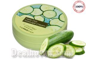 Deal Hot VN - Kem massage Herb Day Massage Cream thanh phan dua leo tuoi mat, bo sung luong am lau dai cho da, tang cuong vitamin va...