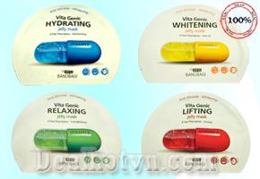 Deal Hot VN - Combo 4 Mat na Vitamin Genic Jelly Mask - chinh hang Korea. Voi chiet xuat 100% thien nhien giup phuc lan da khoe...