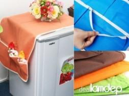 KHĂN CHE TỦ LẠNH khuyến mãi giảm giá rẻ chỉ 45.000đ GIẢM 50%, tiện dụng hơn không chỉ giúp cho máy lạnh của bạn trong đẹp hơn mà còn có thể đựng đồ hai bên tủ nữa đấy, cùng nhóm mua chung hot deal nhé,