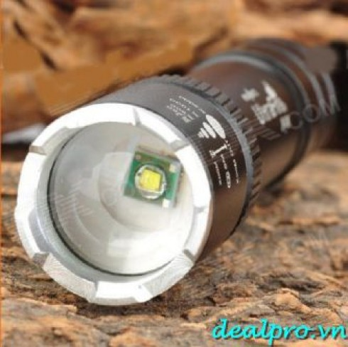 UltraFire JP-006 Cree q5-Mode JP006 Zooming Flashlight - Black (1pin ultrafire x ...