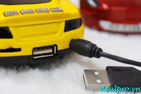 Loa USB Hifi mô hình xe hơi độc đáo, kết nối nghe nhạc từ thẻ nhớ Micro SD, USB, Mp...