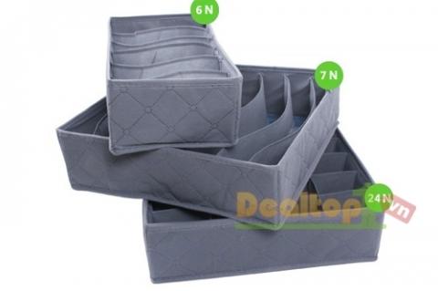 Compo 3 Hộp Vải Đựng Đồ Lót
