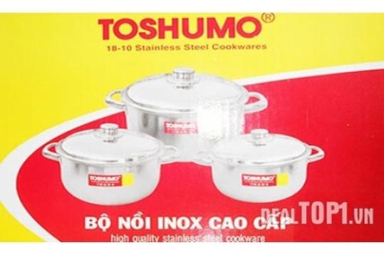 Bộ nồi inox 3 cái TOSHUMO
