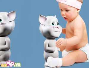 Deal Vip - Do Choi Meo Tom Biet Noi Talking Tom Cat – Co The Lap Lai Giong Noi Nguoi Trong Vong 10s Bang Giong Noi Ngo Nghinh – Mon Qua Doc Dao Danh Cho Tre Gia 115.000VND Giam 40% So Voi Gia Goc