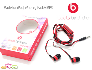 Deal Vip - Tai Nghe Monster Beats by Dr.Dre: Kieu Dang Thoi Trang - Am Thanh Chi Tiet, Tieng Bass -Treble Ro Rang, Gia 95.000VND Giam Con 59.000VND Chi Co Tai Dealvip.vn