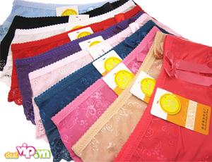 Combo 05 Quần Chip Nữ Thun Polyester Viền Ren - Màu Sắc Thời Trang Quyến Rũ. Giá 99.000 VND Chỉ Có Tại Dealvip.vn
