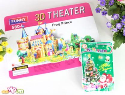 Bộ Tranh 3D Theater + Cây Thông Noel Gồm Nhiều Miếng Ghép Rời Giúp Tạo Nên Bức Tranh Tòa Lâu Đài Giống Như Thật Giá 50.000VND Giảm 67% So Với Giá Gốc 150.000VND Chỉ Có Tại Dealvip.vn