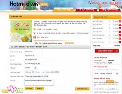 Đặt Món ăn trực tuyến giao hàng tận nơi chỉ có tại Hotmeal.vn Voucher Trị Giá 100,000VND, Giảm 50%, Còn 50,000VND cho quán Bè Chè.