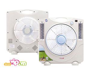 Deal Vip - Quat Sac Dien Co Den Led Sakama Dang Hop - Model SM QS 02, Dien ap 220V – 50Hz, Acquy 6V-4.5A, Gia 330.000VND Chi Co Tai Dealvip.vn