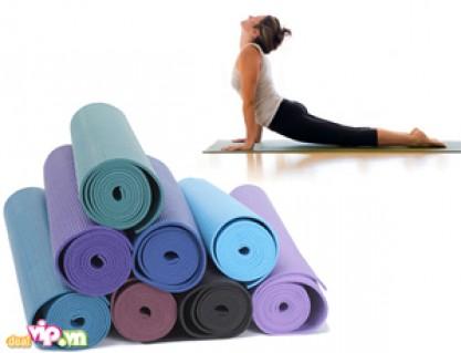 Thảm Tập Yoga Mat Thoải Mái Và Hiệu Quả Hơn Với Tấm Thảm Chuyên Dụng Làm Từ Nhựa PVC Cao Cấp Giá 119.000VND Giảm 71% So Với Giá Gốc 399.000VND Chỉ Có Tại Dealvip.vn - Đồ Dùng Cá Nhân