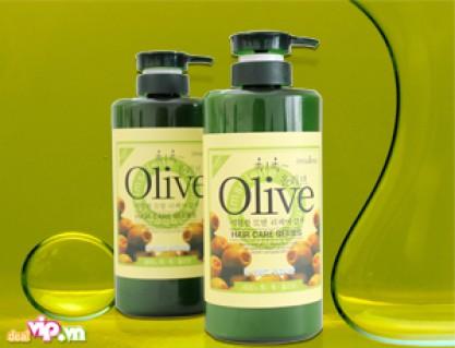 """Combo Dầu Gội """" 800ml """" + Dầu Xả Olive """" 800ml """" Tinh Chất Olive Kết Hợp Cùng Bio-mimetic ceramide Cho Bạn Mái Tóc Chắc Khỏe Sạch Gàu Giá 300.000VND Giảm Còn 135.000VND Tiết Kiệm 55% Chỉ Có Tại Dealvip.vn"""