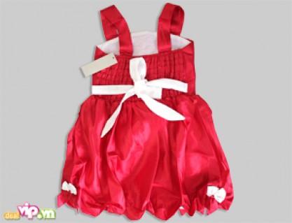 Bé Giá Trông Thật Đáng Yêu Và Nổi Bật Với Đầm Dạ Hội Màu Đỏ Dành Cho Bé Gái. Giá 195.000VND Giảm Còn 89.000VND Chỉ Có Tại Dealvip.vn