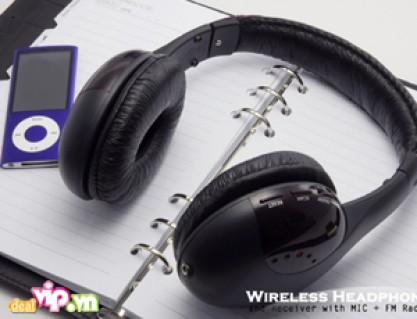 Tai Nghe Wireless MH2001 Không Dây Nhận Tín Hiệu Khoảng Cách 30m – Miếng Ốp Tai Bông Mềm Không Gây Đau Vành Tai Khi Bạn Nghe Lâu Giá 189.000VND Giảm 42% So Với Giá Gốc 325.000VND