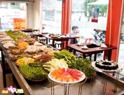 Buffet Hải Sản Nướng-Sushi Tại Paradise HotPot : Menu Hấp Dẫn – Thực Phẩm Tươi Ngon Giá 185.000VND Giảm 40% So Với Giá Gốc 307.000VND Chỉ Có Tại Dealvip.vn - 1 - Ăn Uống - Ăn Uống