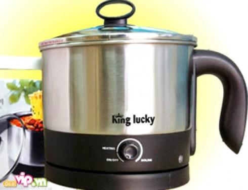 Nồi Nấu Siêu Tốc Mini Đa Chức Năng King Lucky Cho Bạn Thoải Mái Nấu Canh – Luộc Trứng Chỉ trong 1 Thời Gian Ngắn Giá 590.000VND Giảm Còn 240.000VND Chỉ Có Tại
