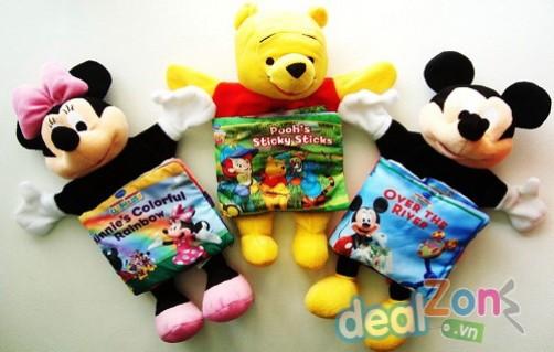 Sách vải kèm rối tay Disney