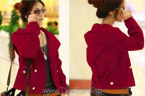 Áo khoác cài nút Red color
