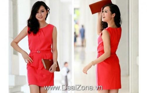 Đầm công sở kèm nịt phong cách Hàn Quốc