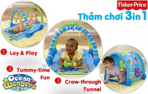 Thảm chơi 3in1 Fisher Price P5331 - Sản phẩm cho bé