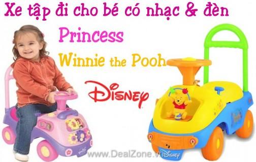 Xe tập đi Disney Princess/Pooh - Sản phẩm cho bé