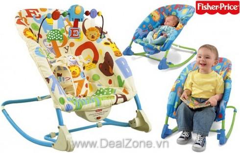 Ghế rung cao cấp V2559 (vàng)/ T4201 (xanh) - Sản phẩm cho bé