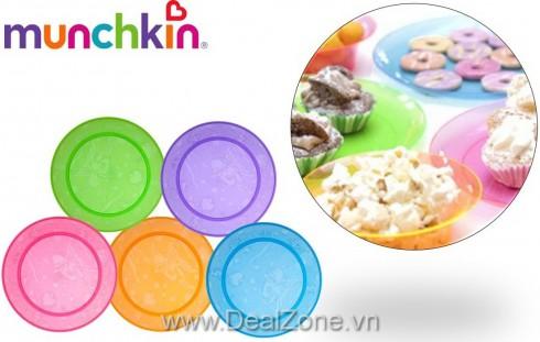 Bộ 5 dĩa nhựa Munchkin free BPA