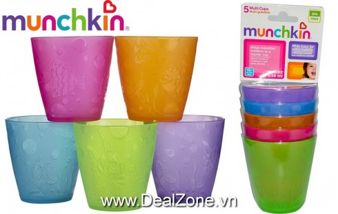 Bộ 5 cốc munchkin free BPA