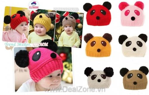DZ875 - Nón len gấu panda
