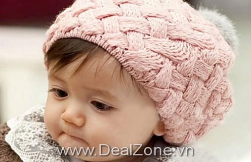 DZ658 - Nón len bánh tiêu cho bé