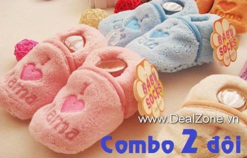 DZ778 - Combo 02 đôi giày vớ I love Mama...