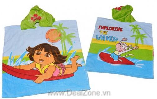 DZ1162 - Khăn choàng tắm có nón DORA