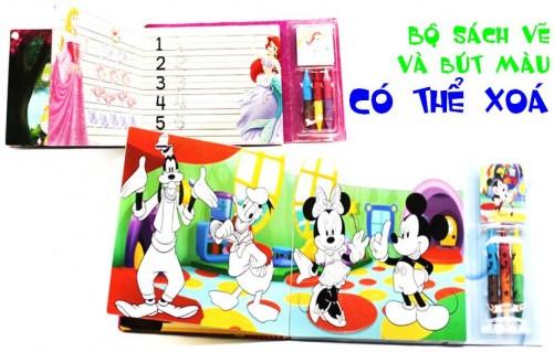DZ1081 - Bộ sách vẽ và bút màu có thể xoá...