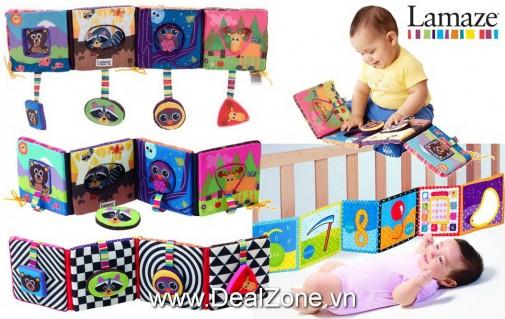 DZ835 - Sách vải Lamaze 2 in 1 cho bé sơ sinh