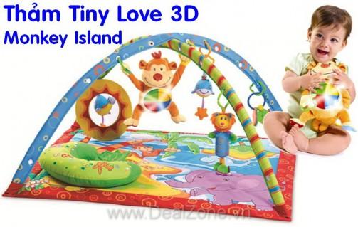 DZ802 - Thảm Tiny Love 3D có nhạc Monkey Island