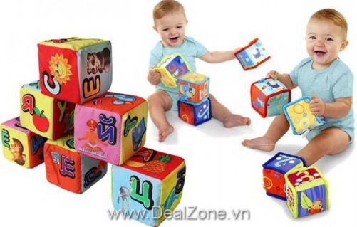 DZ1077 - Khối vuông bông thông thái cho bé 6m+