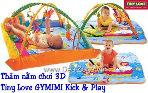 DZ757 - Thảm Tiny Love 3D có nhạc Kick & Play