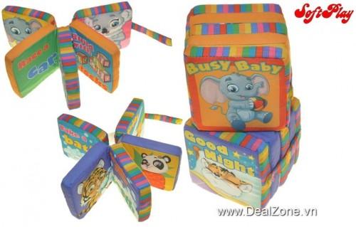 DZ1180 - Bộ 2 sách vải hình Quạt - Soft Play...