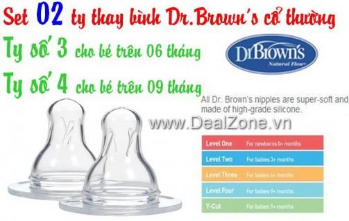 DZ540 - Set 02 ty thay bình Dr.Brown số 03 - số...
