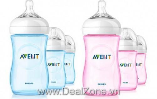 DZ613 - Bình sữa Philips Avent 2012 (Xanh / Hồng)
