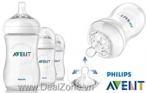 DZ677 - Bình sữa Avent Natural 2012 (trắng)