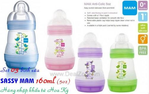 DZ781 - Set 3 bình sữa MAM 160ml (nhỏ)