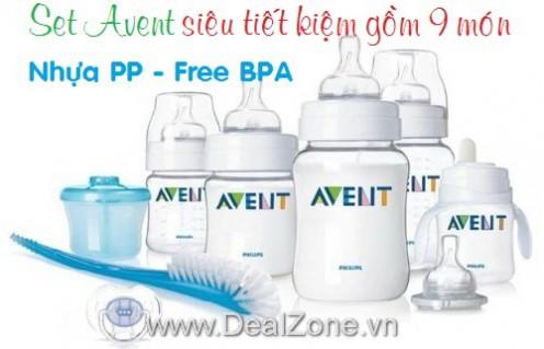 DZ572 - Set bình sữa AVENT 9 món