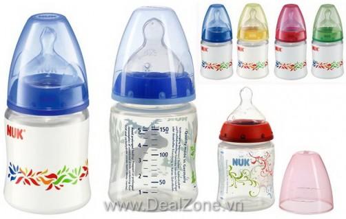 DZ1351 - Bình sữa NUK - PP cổ rộng 150ml - núm...