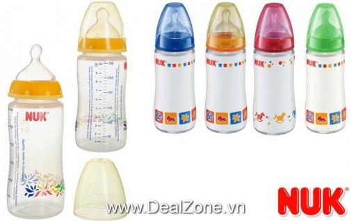 DZ1354 - Bình sữa NUK - PP cổ rộng 300ml - núm...