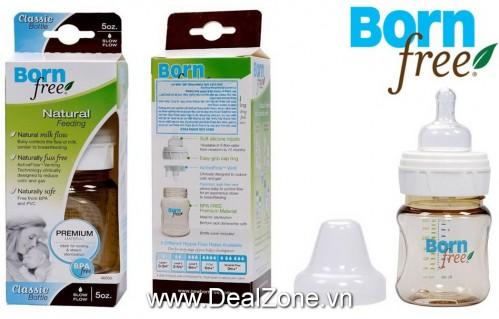 DZ1338 - Bình sữa BornFree nhựa PES 5oz (160ml)
